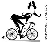 funny long mustache man in...   Shutterstock . vector #792329677