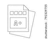 dotted shape education...   Shutterstock .eps vector #792329755