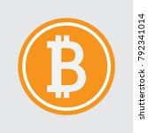 bitcoin icon  vector sign ...   Shutterstock .eps vector #792341014