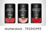 salami  ham  prosciutto... | Shutterstock .eps vector #792341995