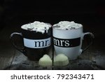 still life with two cups of...   Shutterstock . vector #792343471