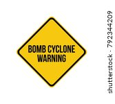 bomb cyclone warning sign.  | Shutterstock .eps vector #792344209