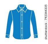 dress long sleeve shirt flat... | Shutterstock .eps vector #792344335