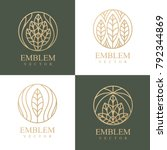 Nature logo set. Floral logo. Flower icon. Floral emblem. Cosmetics, Spa, Beauty salon, Decoration, Boutique logo. Interior Icon. Resort and Restaurant Logo. Herbal, leaf, nature icon. | Shutterstock vector #792344869