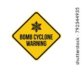 bomb cyclone weather warning | Shutterstock .eps vector #792344935