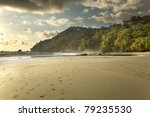 Costa Rican Beach At Sunset