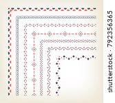 vercotr set of decorative...   Shutterstock .eps vector #792356365