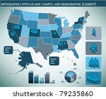 infographic with map and... | Shutterstock .eps vector #79235860