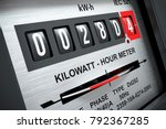 electricity kilowatt hour meter ... | Shutterstock . vector #792367285