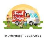 food drive non perishable food... | Shutterstock .eps vector #792372511