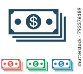 money icon set   simple flat... | Shutterstock .eps vector #792376189