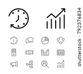 economy icons set with...