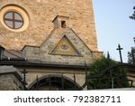 all seeing eye on the temple | Shutterstock . vector #792382711