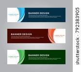 abstract modern banner... | Shutterstock .eps vector #792383905