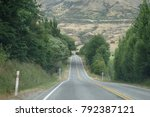 new zealand road trip  from... | Shutterstock . vector #792387121