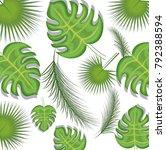 seamless pattern tropical... | Shutterstock .eps vector #792388594