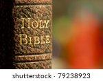 Closeup Shot Of The Holy Bible...