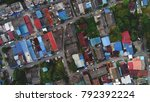 aerial view. a low rise...   Shutterstock . vector #792392224