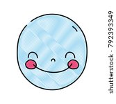 grated face cute happy kawaii... | Shutterstock .eps vector #792393349