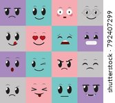 social media emoticon design | Shutterstock .eps vector #792407299