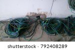 Small photo of Electrical wiring work at a construction site.Wire extension.