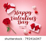 happy valentines day text... | Shutterstock .eps vector #792416347