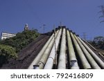 industrial gas pipes in brazil | Shutterstock . vector #792416809
