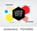colorful hexagon wallpaper... | Shutterstock .eps vector #792418381