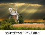 A Traditional Windmill In The...