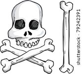 12630 pirate skull and crossbones clip art free | Public domain ...