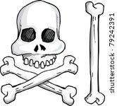 illustration of skull and...