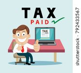 businessman paying tax payment... | Shutterstock .eps vector #792433567