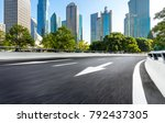 city empty traffic road with... | Shutterstock . vector #792437305
