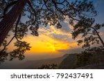 mountain at sunset  phu... | Shutterstock . vector #792437491