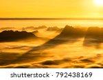 sunrise and mist on mountain ... | Shutterstock . vector #792438169