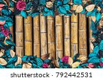 beautiful and colorful... | Shutterstock . vector #792442531
