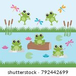 Frog Fun   Happy Frogs And...