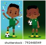 vector illustration of football ... | Shutterstock .eps vector #792448549