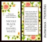 vintage delicate invitation...   Shutterstock .eps vector #792451561