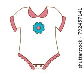 cute baby dress icon   Shutterstock .eps vector #792457141