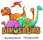 dinosaurs sign with egg | Shutterstock .eps vector #792461599