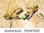 aerial view of a excavators and ... | Shutterstock . vector #792467029