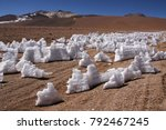 snow and ice on the ground in... | Shutterstock . vector #792467245