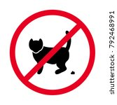 sign prohibiting a toilet for... | Shutterstock .eps vector #792468991