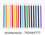 color pencils set  row wooden... | Shutterstock . vector #792469777