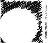 circle hatching grunge graphite ... | Shutterstock .eps vector #792478267