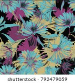 floral pattern in vector | Shutterstock .eps vector #792479059