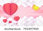 card valentine's day balloon... | Shutterstock .eps vector #792497905