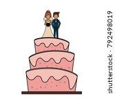 wedding big cake | Shutterstock .eps vector #792498019