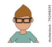 geek man cartoon | Shutterstock .eps vector #792498295